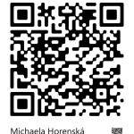 QR CONTACT - Michaela Horenská